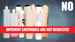 different cartridges are not requested
